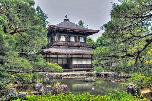 Ginkaku-ji Temple, Gardens, Kyoto, Japan, Nature