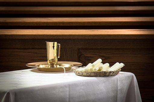 Baptism, Sacrament, Baptismal Bowl, Pot, Jug, Water Jug