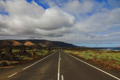 Clouds, Cloudy, Green, Highway, Island, Lava
