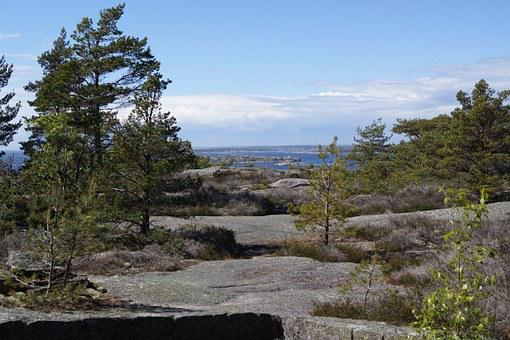Rock Faces, Sweden, Stromstad, Landscape, Mountains