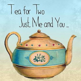 Tea, Teapot, Quote, Card, Gift, Cute, Vintage, Pot