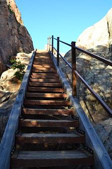 Stairs, Staircase, Rustic, Steps, Rocks, Hiking