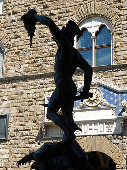 Statue, Sculpture, Perseus, Loggia Dei Lanzi