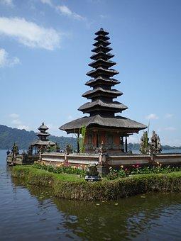 Tanah Lot, Bali, Sea, Pray, Temple, Religion, Tradition