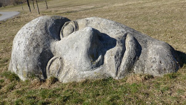 Upper Bavaria, Denklingen, Rock, Face, The Lost Face
