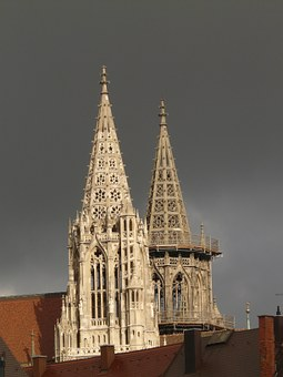 Towers, Ulm Cathedral, Building, Münster, Ulm, Church