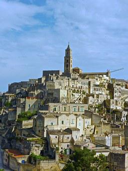 Matera, Unesco, Historic, Panorama, Historical, Italy