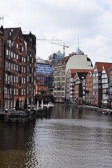 Hamburg, City, Water, New Symphony, Homes, Architecture