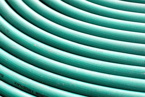 Hose, Watering, Green, Circle, Wrapped