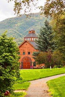 Church, Landscape, Architecture, Religion, Alaska