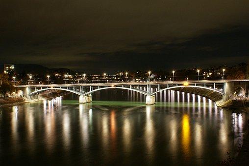 Basel, Rhine, Bridge, Switzerland, River, City