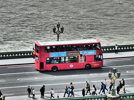 England, Bus, London, Double Decker Bus, Street Scene
