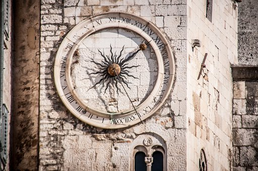 Clock Tower, Clock, 24 Hour Clock, Sibenik, Time Of