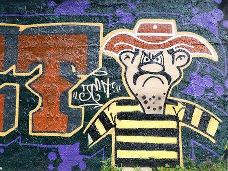 Graffiti, Crook, Crooks, Lucky Luke, Wall, Art