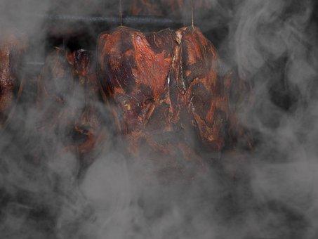 Smoked Meat, Ham, Smoked Ham, Smoke, Eat, Food, Meat