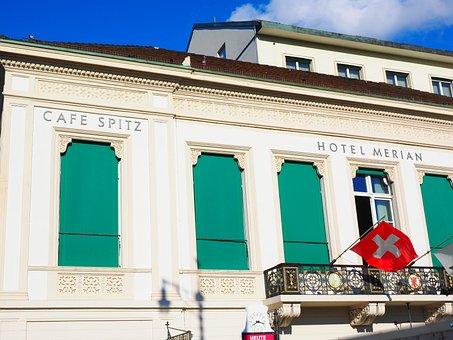 Basel, Cafe Pointed, Hotel Merian, Nobelbau, Facade