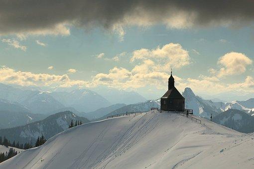 Easter, Spring, Mountain, Snow, Sun, Hope, Faith