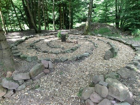 Labyrinth, Away, Center, Kniebis, Forest, Cult, Mistery