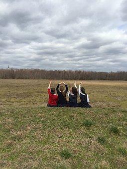 Friends, Fun, Happy, Happiness, Hands Up, Love, Gesture