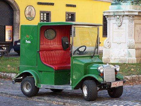 Hungary, Budapest, Post, Post Van, Vehicle
