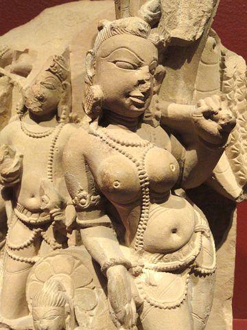 Attendants, Vishnu, Personification, Mace, Rajasthan
