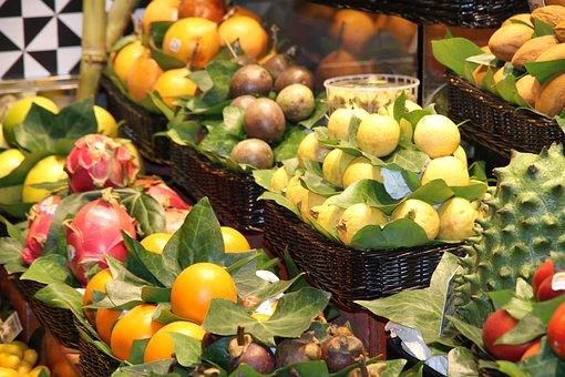 Fruit, Vitamins, Healthy Eating, Vegetables, Market