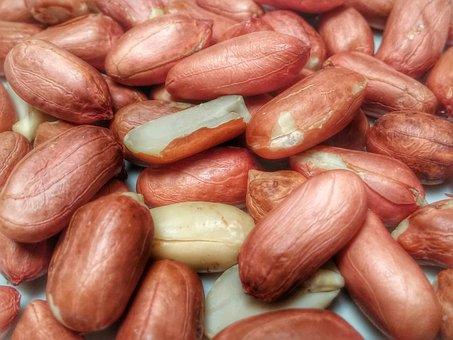 Peanuts, Nuts, Monkey Nuts, Food, Nutrition, Snack