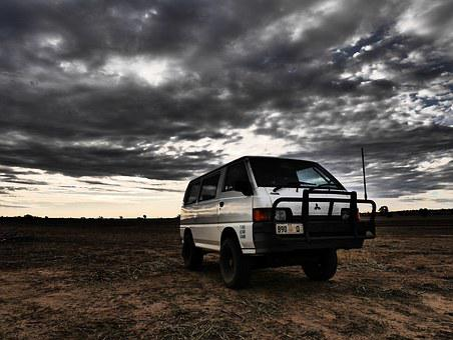 Van, 4x4, Vehicle, Car, Outdoors, Adventure, Camping