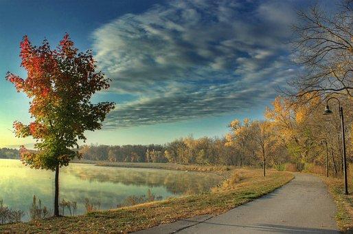 Copper, Creek, Pleasant Hill, Lake, Landscape, Way
