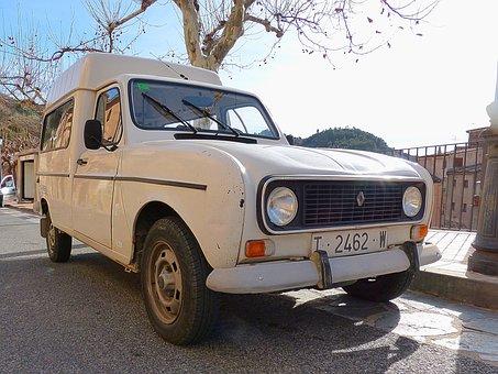 Van, Old, Vintage, Renault F6, Renault 4l