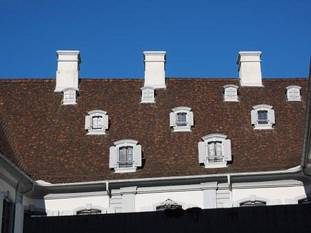 Roof, Fireplace, Window, Roof Windows, Staatsarchiv