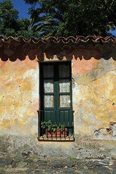 Uruguay, Colonia, Street, Window, Town, Uruguayan