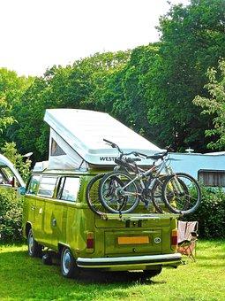 Camping, Retro, Combi Van, Volkswagen, Touring