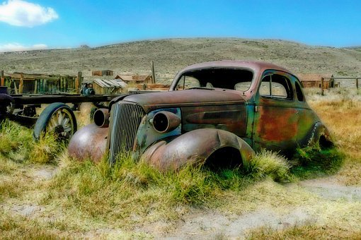 Bodie, Ghost Town, California, Usa, Legacy, Old Car