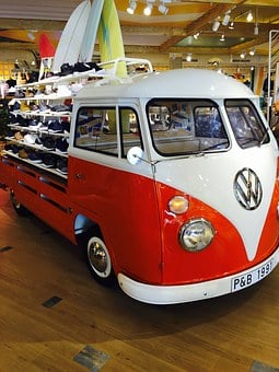 Van, Vw, Shoes, Camper, Hippie, Auto, Engine, White