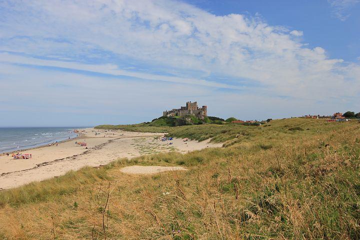 Bamburgh Castle, Northumberland, Castle, Bamburgh