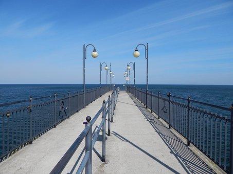 Empty Pier, Pier, Sea, Before Season, Wharf, Water