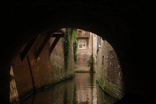 Binnedieze, S Hertogenbosch, Cruise, Old, Historical