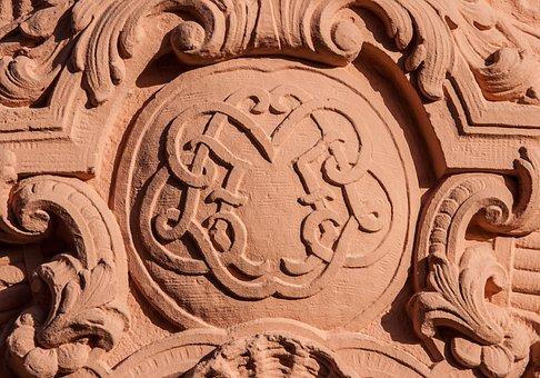 Coat Of Arms, Sand Stone, Insignia, Castle, Stucco