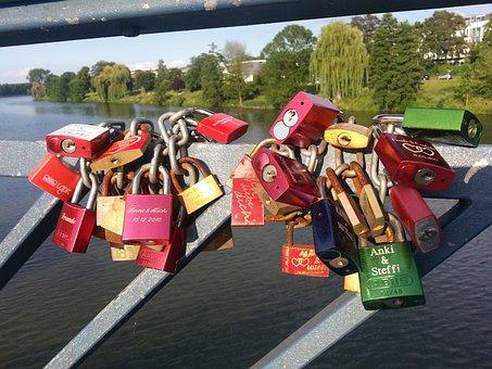 Love Locks, Castles, Love, Engagement, Promise