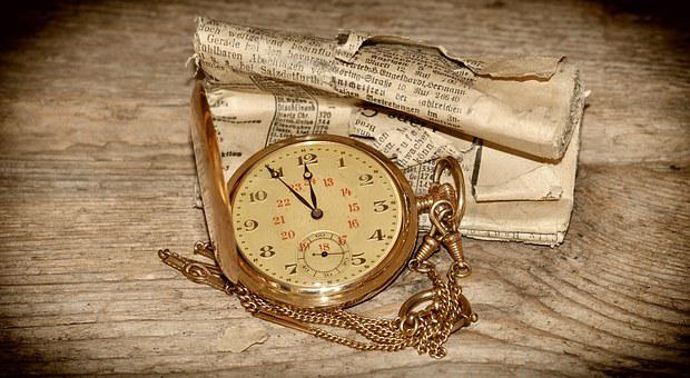 Pocket Watch, Clock, Gold, Clock Face, Time Of