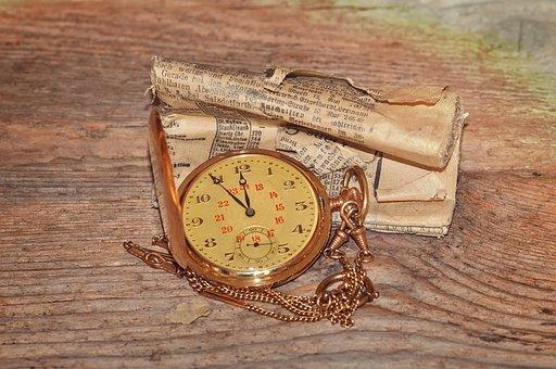 Pocket Watch, Clock, Clock Face, Time Of, Jewellery