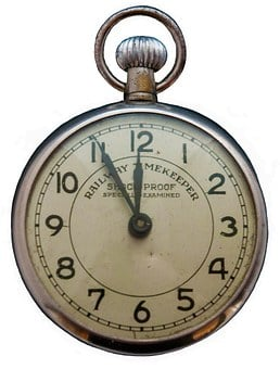 Pocket Watch, 5vor12, Old, Clock, Close, Nostalgia