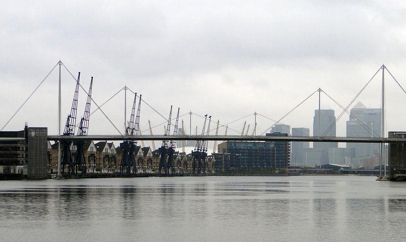 London, Harbour Cranes, Cranes, Crane, Port, Industry