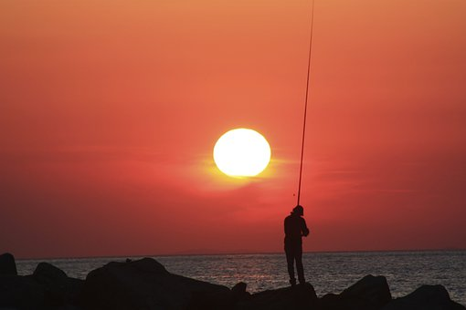Fisherman, Sunset, Fishing, Outdoor, Outdoors