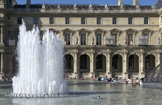 Aile Richelieu, Louvre, Fountain, Palace, Wing, Paris