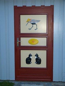 Ahrenshoop, Zingst, Home, Door, Input, Wood, Relief
