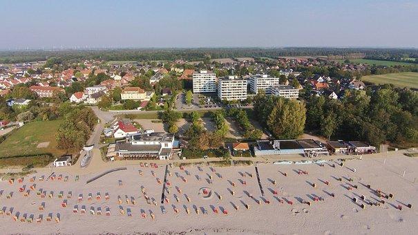 Kellenhusen, Beach, Luftbilaufnahme, Baltic Sea