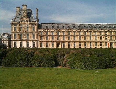 Paris, Garden, Louvre, Tuilleries, Garden Of Tuilleries