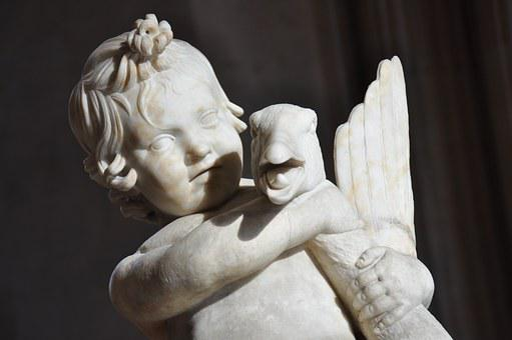 Roman Antiquities, Child, Statue, Marble, Oca, Louvre